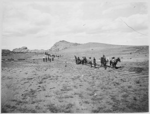 A section of railroad being built in Eastern Arizona, circa 1900. (Courtesy photo)