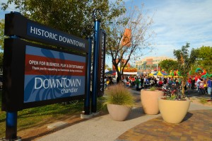 Downtown Chandler is a gathering place for many community events.  Photo from the City of Chandler.