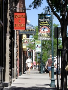 Shops along Flagstaff's Aspen Avenue.  Photo from City of Flagstaff