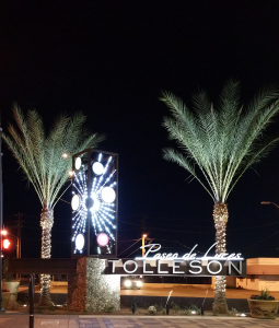 The Paseo de Luces revitalization project opened in 2014.  Photo from the City of Tolleson