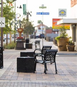 Paseo De Luces offers family-style seating, making it a gathering place for all people.  Photo from City of Tolleson
