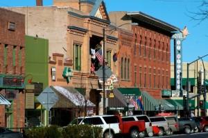 The City of Prescott's famous Whiskey Row.  Photo from the City of Prescott