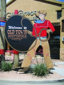 Welcome to Old Town Scottsdale. Photo courtesy of Scottsdale Convention & Visitors Bureau