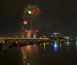 Tempe Town Lake and the Tempe Beach Park serve as the main gathering place in downtown Tempe, with concerts, festivals and events like Fourth of July Tempe Town Lake Festival occurring throughout the year.  Photo from the City of Tempe.