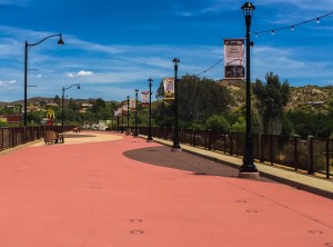 The Hassayampa River Walk, completed earlier this year, is an adaptive reuse of the 1962 ADOT bridge over the Hassayampa River that hosts downtown events.  Photo from the City of Wickenburg
